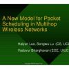 A new model for packet scheduling in multihop wireless networks