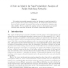 A note on models for non-probabilistic analysis of packet switching networks
