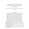 A Numerical Study of Diagonally Split Runge-Kutta Methods for PDEs with Discontinuities