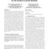 A performance evaluation framework for fair solutions in ad hoc networks