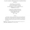 A power penalty method for linear complementarity problems