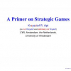 A Primer on Strategic Games