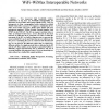 A Proactive Horizontal Handover Algorithm for WiFi-WiMax Interoperable Networks