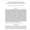 A Probabilistic Methodology for Integrating Knowledge and Experiments on Biological Networks