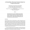 A Probabilistic Relational Student Model for Virtual Laboratories