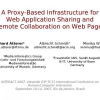 A Proxy-Based Infrastructure for Web Application Sharing and Remote Collaboration on Web Pages