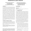 A random perturbation-based scheme for pairwise key establishment in sensor networks