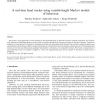 A real-time hand tracker using variable-length Markov models of behaviour