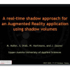 A real-time shadow approach for an augmented reality application using shadow volumes
