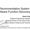 A Recommendation System for Software Function Discovery