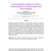 A Recommender System for Device Sharing Based on Context-Aware and Personalization