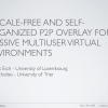 A scale-free and self-organized P2P overlay for massive multiuser virtual environments