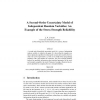 A Second-Order Uncertainty Model of Independent Random Variables: An Example of the Stress-Strength Reliability