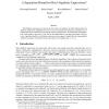 A Separation Bound for Real Algebraic Expressions