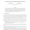 A short proof of the Quantum Substate Theorem