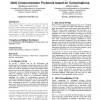 A software tool for the development of MAS communication protocols based on conversations