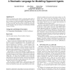 A stochastic language for modelling opponent agents