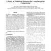 A Study of Prediction Measures for Lossy Image Set Compression