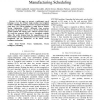 A Swarm Intelligence Method Applied to Manufacturing Scheduling