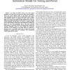 A unified non-rectangular device and circuit simulation model for timing and power