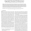 A Variational Approach to Degraded Document Enhancement