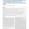 A variational Bayes algorithm for fast and accurate multiple locus genome-wide association analysis