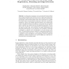 A Variational Framework for Joint Image Registration, Denoising and Edge Detection