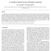 A window-based inverse Hough transform