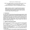 Abstract Interpretation of Algebraic Polynomial Systems (Extended Abstract)