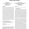 Accelerating memory decryption and authentication with frequent value prediction