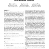 Accurate, scalable in-network identification of p2p traffic using application signatures