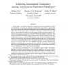 Achieving Incremental Consistency among Autonomous Replicated Databases