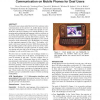 Activity analysis enabling real-time video communication on mobile phones for deaf users