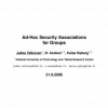 Ad Hoc Security Associations for Groups