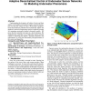 Adaptive decentralized control of underwater sensor networks for modeling underwater phenomena