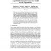 Adaptive Discriminative Generative Model and Its Applications