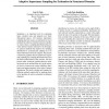 Adaptive Importance Sampling for Estimation in Structured Domains