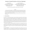 Adaptive mutual exclusion with local spinning