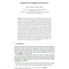 Adaptive Peer Sampling with Newscast