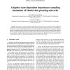 Adaptive state- dependent importance sampling simulation of markovian queueing networks