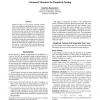 Advanced Measures for Empirical Testing