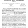 Aggregation Time Control Algorithm for Time constrained Data Delivery in Wireless Sensor Networks