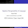 Algebraic Recognizability of Languages