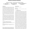 Algorithmic aspects of communication in ad-hoc networks with smart antennas