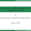 Algorithms for the Minimum Edge Cover of H-Subgraphs of a Graph
