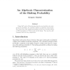 An Algebraic Characterization of the Halting Probability