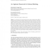 An Algebraic Framework for Schema Matching