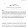 An algorithm for distributing coalitional value calculations among cooperating agents