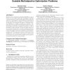 An analysis of the effects of population structure on scalable multiobjective optimization problems