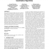 An approach to online optimization of heuristic coordination algorithms